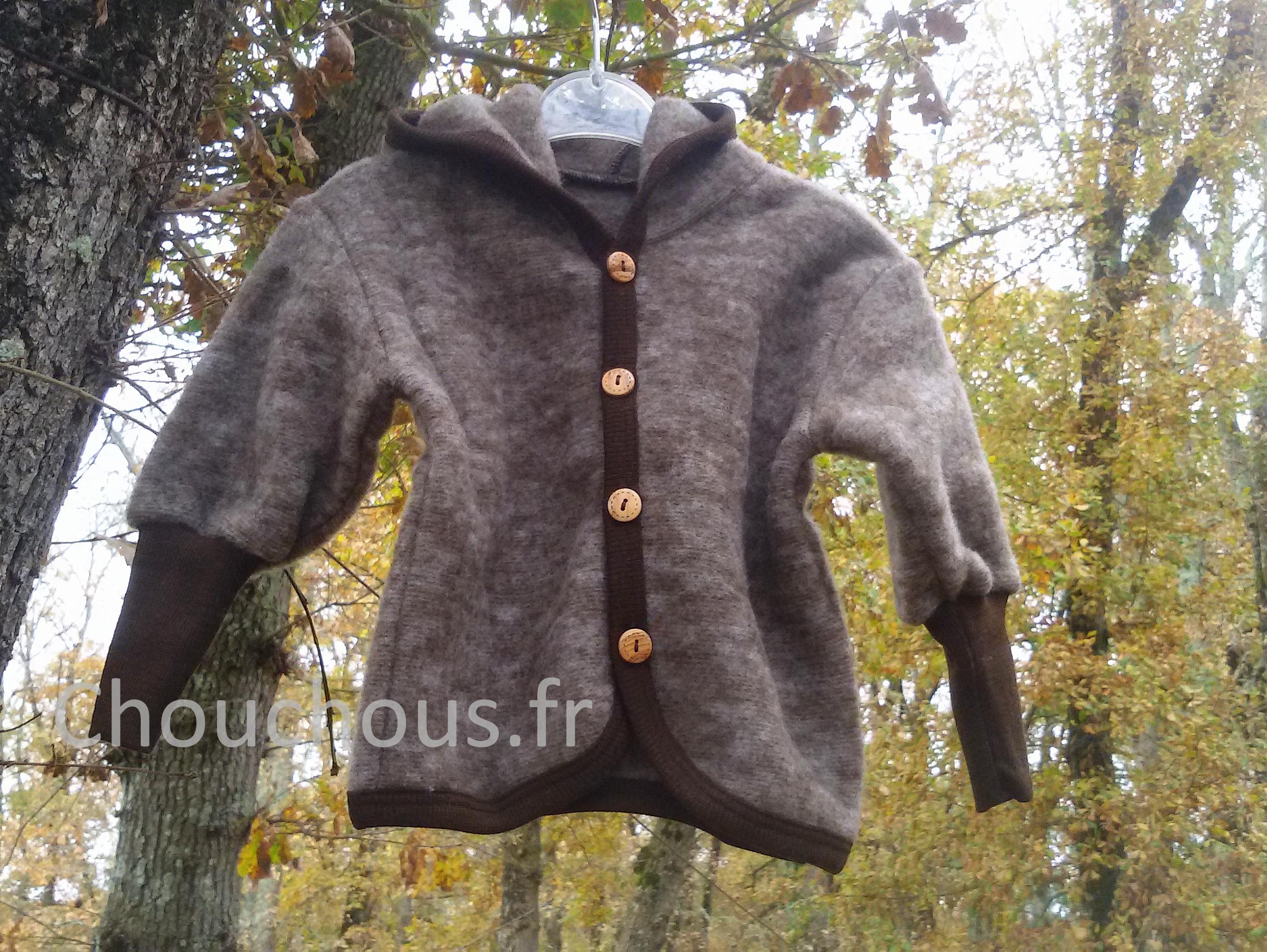 Cosilana Vest met capuchon bruin