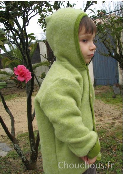 Cosilana Vest met capuchon Groen