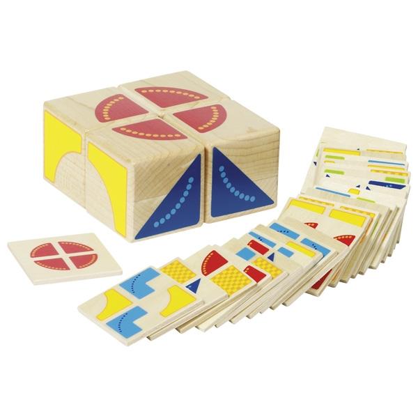 Kubus, kleuren en vormen spel GOKI