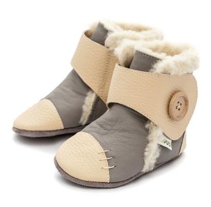 Liliputi Babyboots Snowflake Grey