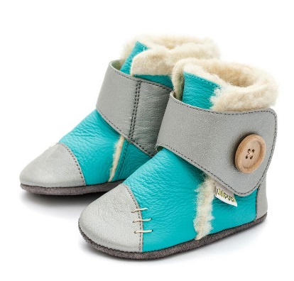 Liliputi Babyboots Snowflake turquoise