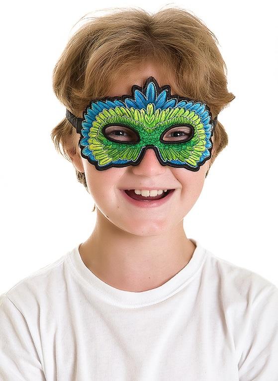 Masker Groene Parkiet - Dreamy Dress Ups