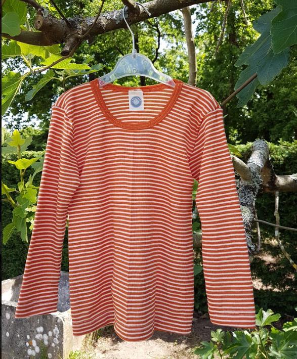Cosilana T-shirt manches longues Enfant Oranje gestreept
