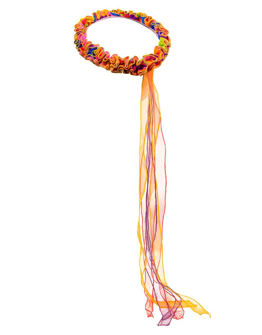 Elastische Hoofdwrap Fee Regenboog Dreamy Dress-Ups