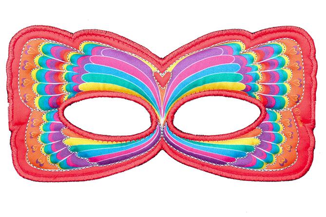 Masque Papillon rouge arc-en-ciel - Dreamy Dress-Ups