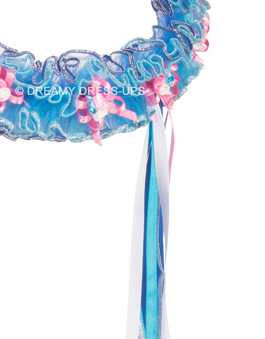 Elastische Hoofdwrap Royal Flower Dreamy Dress-Ups