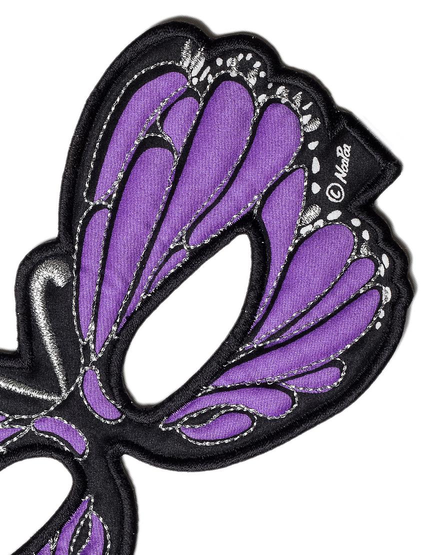 Masker Paarse Vlinder – Dreamy Dress Ups