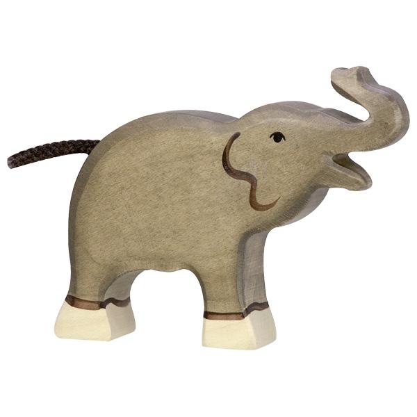 Petit éléphant, trompe haute Holztiger