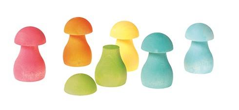 Houten paddenstoelen spel Pastel GRIMM\'s