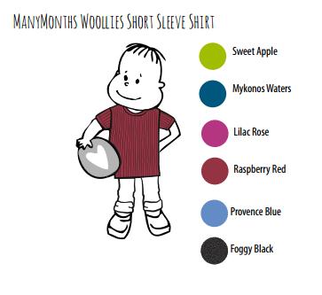 ManyMonths wollen T-shirt korte mouwen Raspberry Red