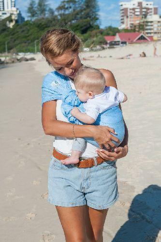 Babydrager Sling Sukkiri Lichtblauw
