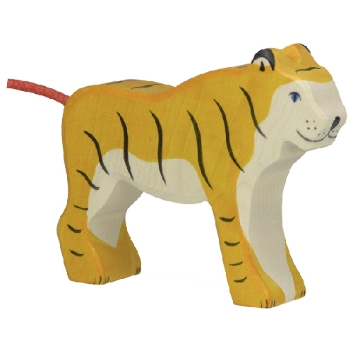 Tigre debout Holztiger