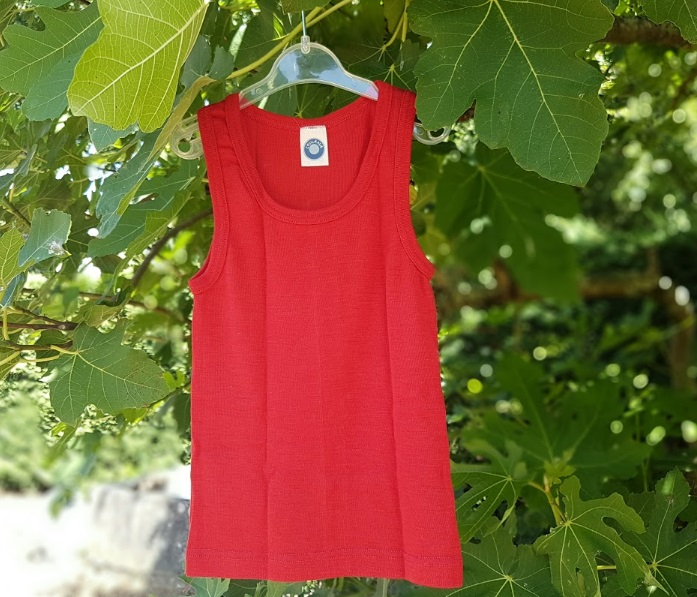Cosilana Hemd zonder mouwen Kind Rood – wol/zijde