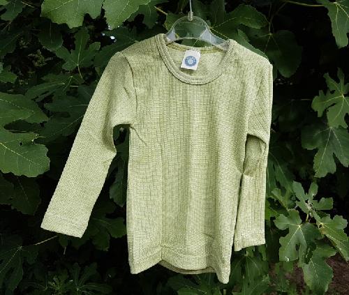 Cosilana T-shirt lange mouwen Kind Lichtgroen – wol/zijde/bio katoen