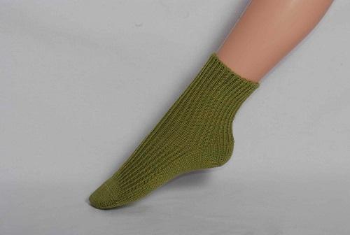 Chaussettes en laine Hirsch Enfant Vert