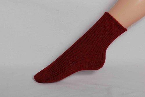 Chaussettes en laine Hirsch Enfant Rouge