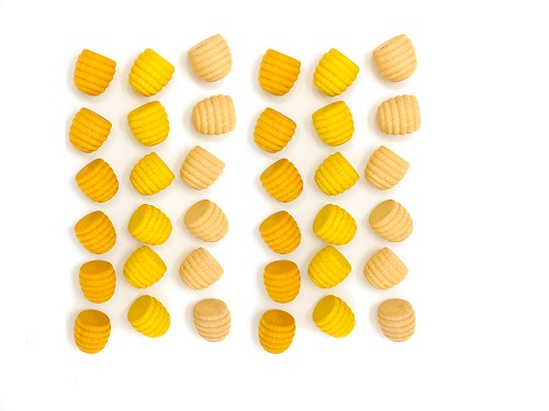 Mandala mini honingpotjes van hout - Set van 36 Grapat