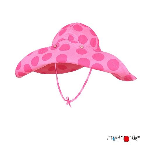 Chapeau d\'été à bord large ManyMonths Big Dots Pink