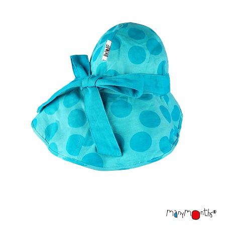 ManyMonths zomerhoedje met Strik Big Dots Turquoise