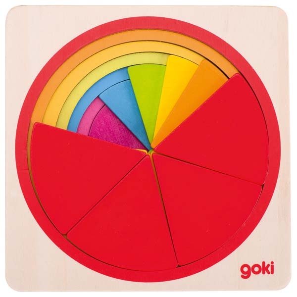 Puzzle cercle de fractions GOKI