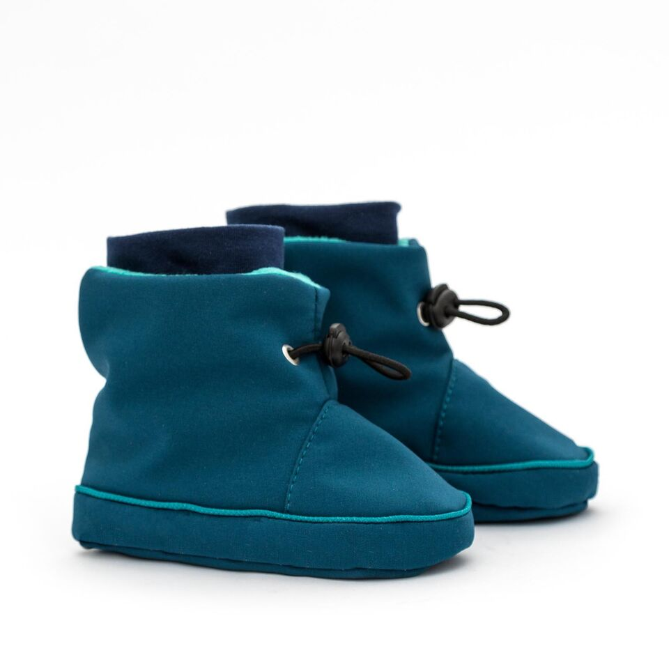 Liliputi draagbooties Azur Turquoise