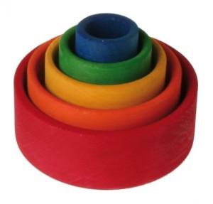 Houten gekleurde schaaltjes GRIMM's