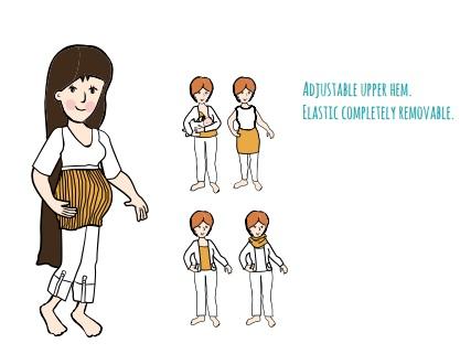 MaM Multitube Zwangerschaps Buikband – Verschillende kleuren