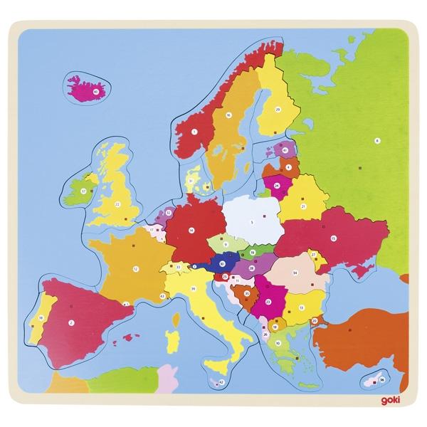 Houten Puzzel Europa GOKI