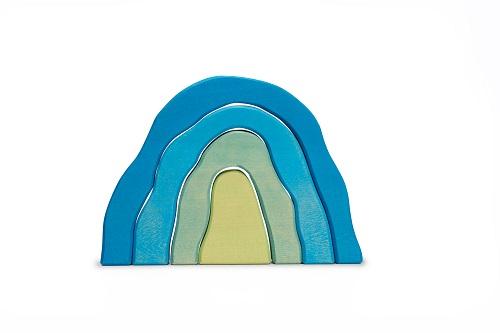 Jeu à empiler Grotte Bleu Ocamora