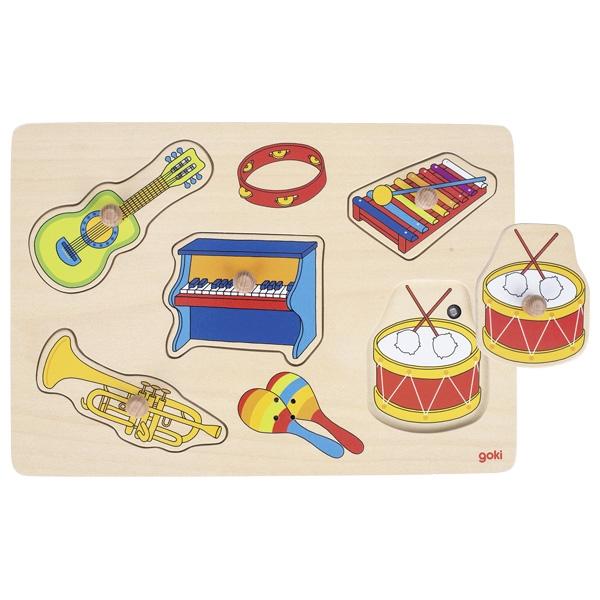 Puzzel met geluid: Instrumenten GOKI