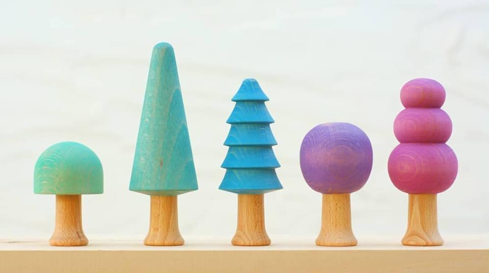 Forêt couleurs froides - 5 arbres Ocamora