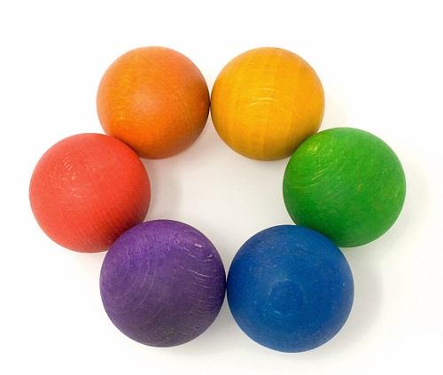 6 boules colorées GRAPAT