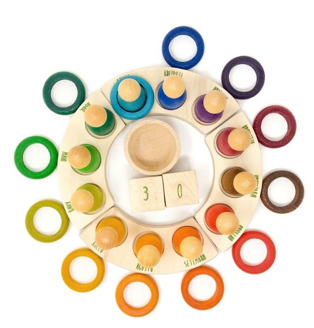 12 anneaux pour le calendrier perpétuel GRAPAT