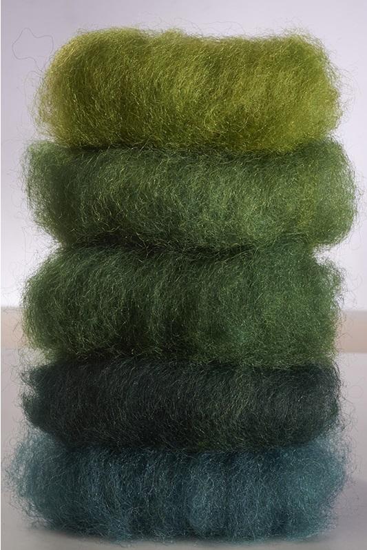 Laine féerique Verte - teinture végétale - 50gr
