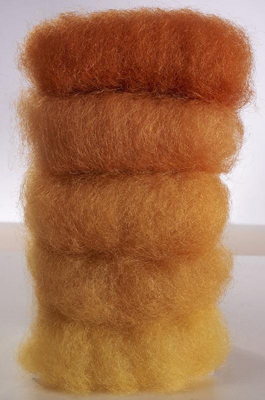 Laine féerique Orange - teinture végétale - 50gr