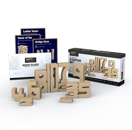 Sumblox Starterset - Set van 27 houten cijfers