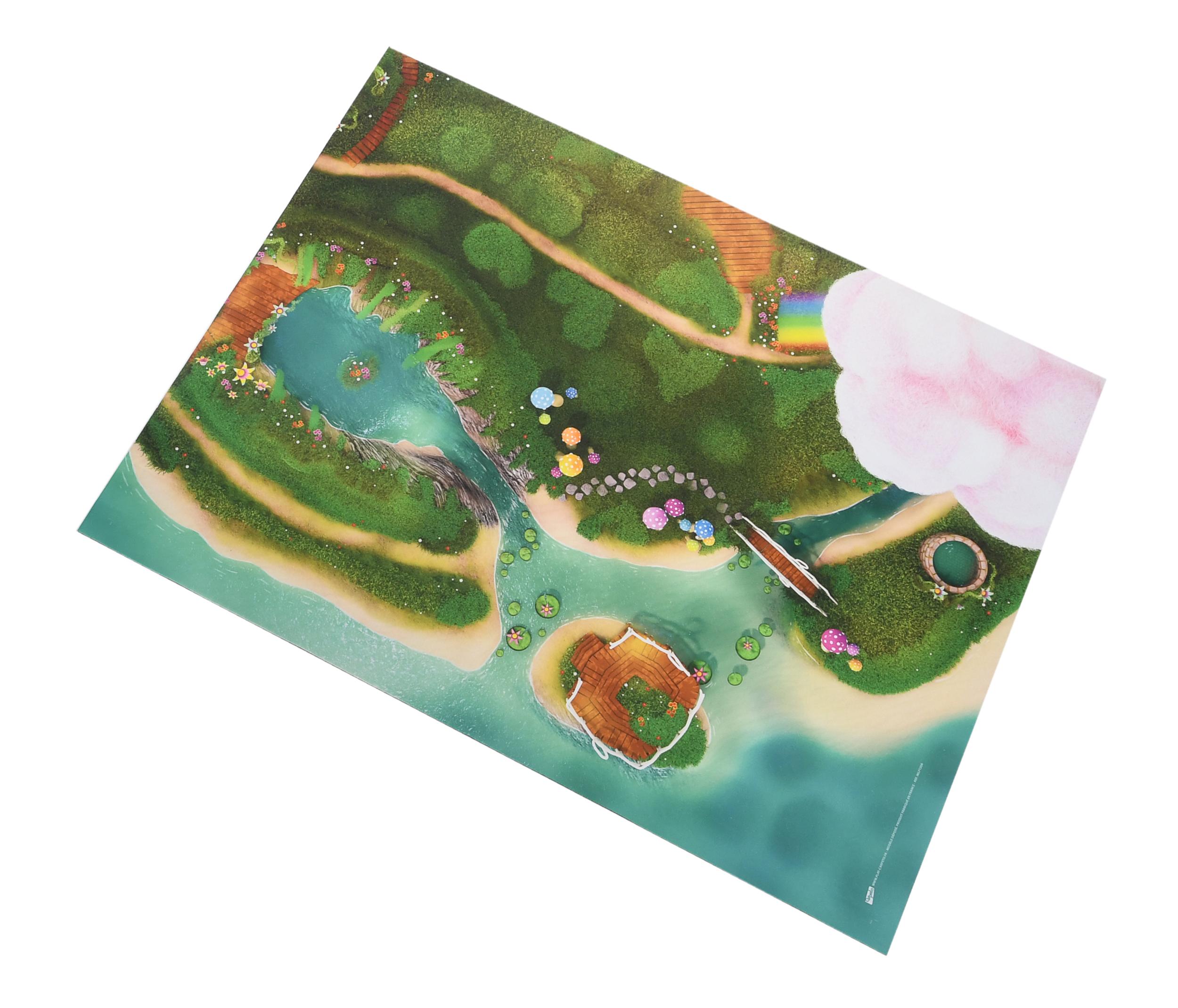 Middelgroot Speelkleed Carpeto - Sprookjes Lagune 120 x 90cm