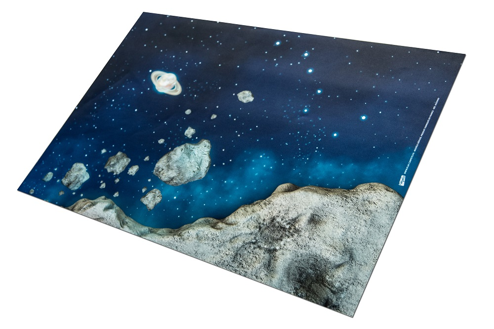 Tapis de jeu Carpeto l\'Odyssée Spatiale 90 x 60 cm