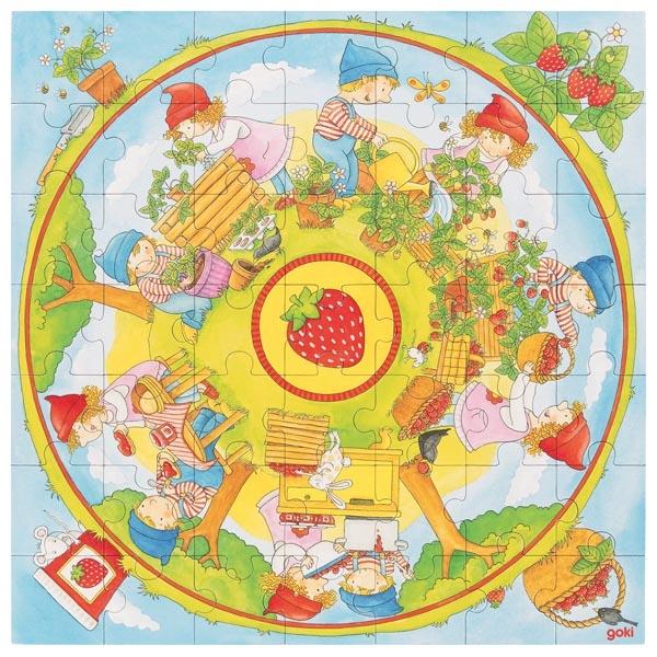 Puzzle XXL nous plantons des fraises GOKI