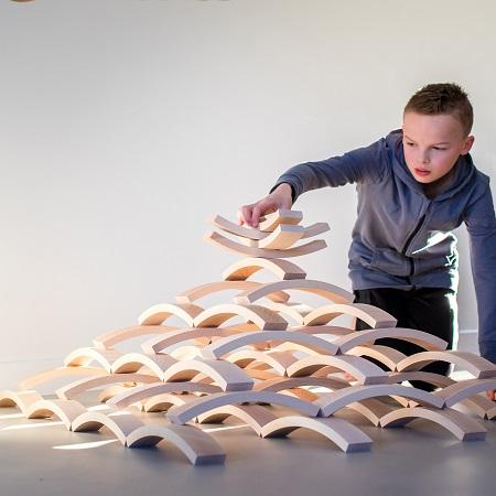 ABEL Blocks lot de 75 pièces en bois