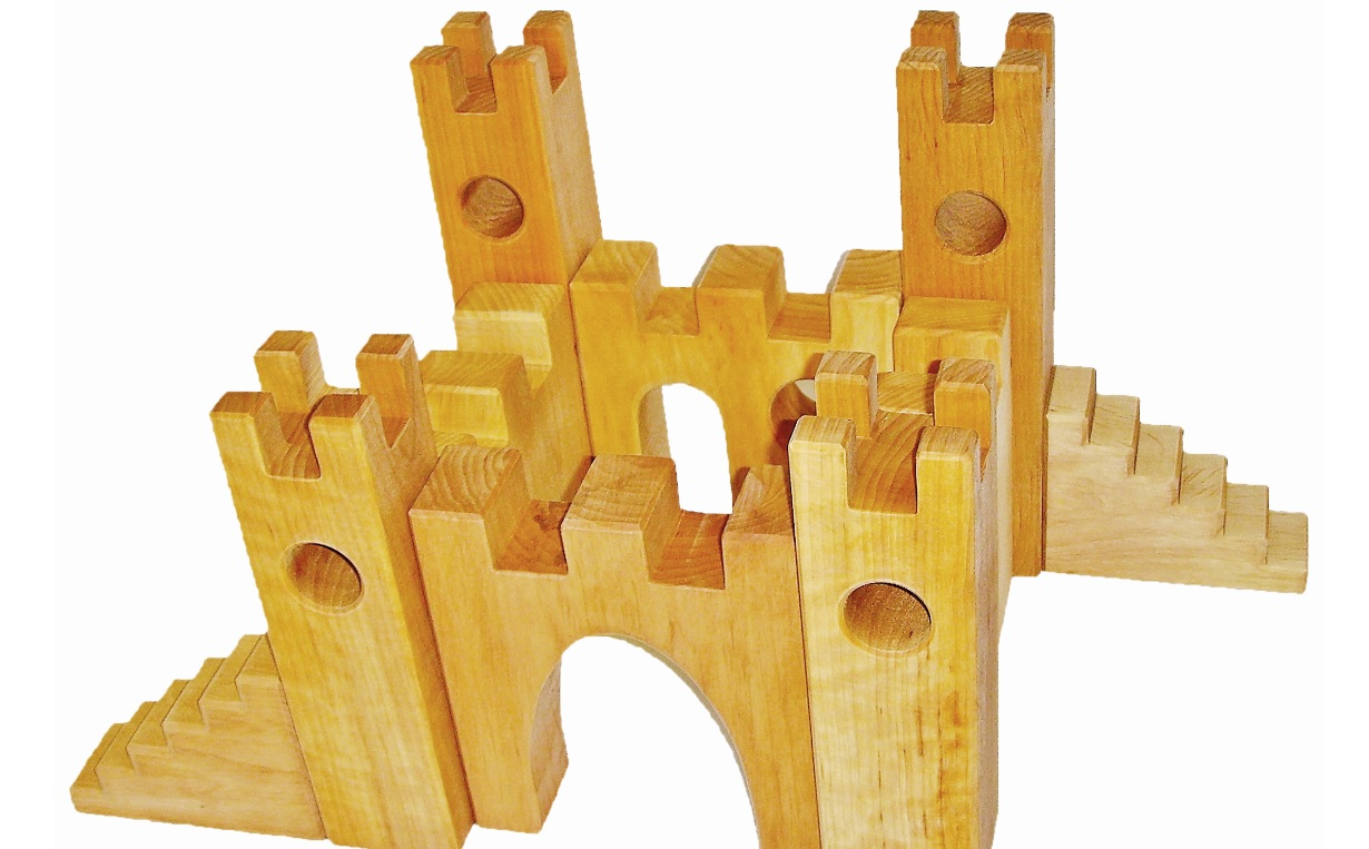 Château de chevalier en bois - 10 pièces Bauspiel