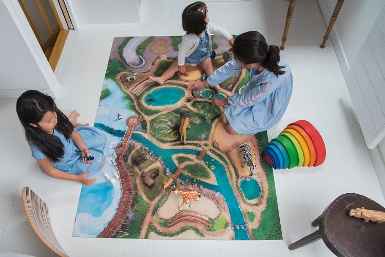 Groot Speelkleed Carpeto - Het Dierenrijk 120 x 180cm