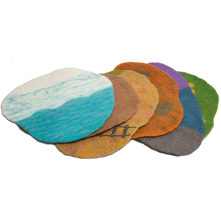 Tapis de paysage en feutrine - set de 6 Papoose
