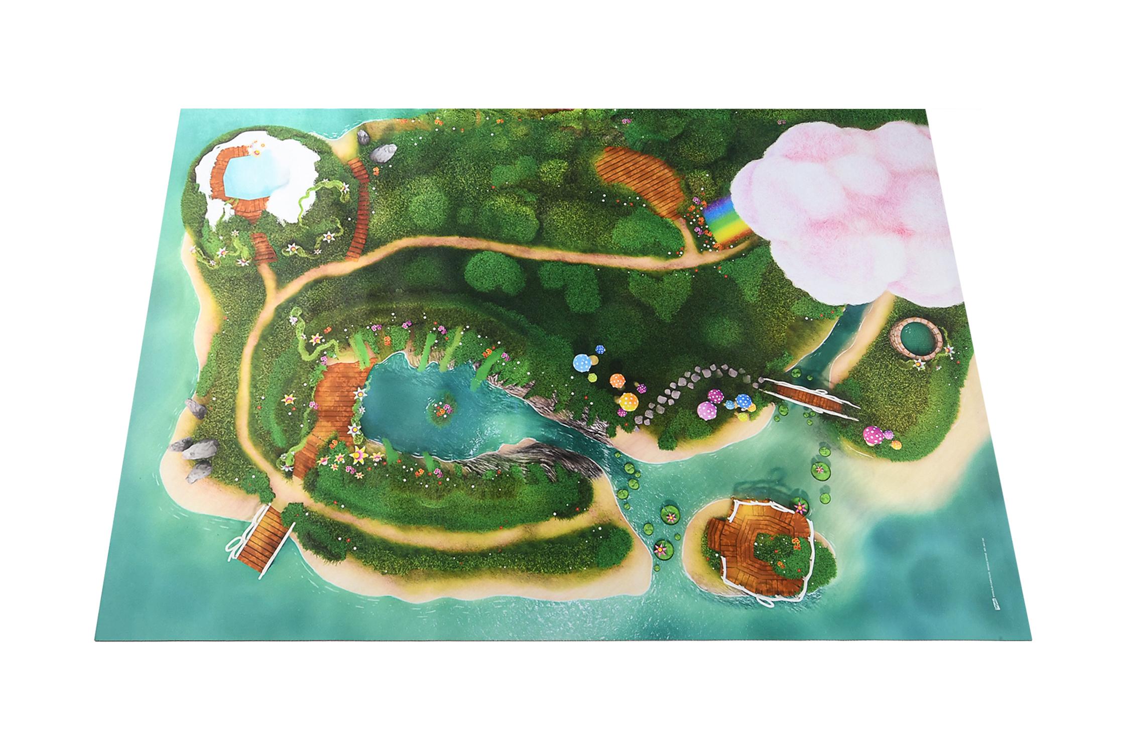 Groot Speelkleed Carpeto - Sprookjes Lagune 120 x 180cm