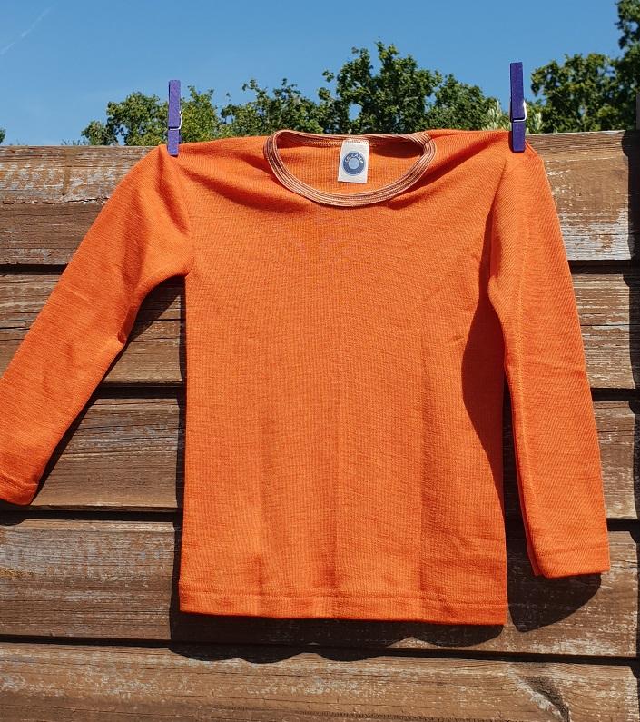 Cosilana T-shirt lange mouwen wol/zijde oranje/roest
