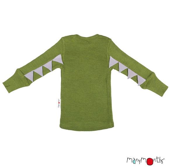 ManyMonths Wollen Dino T-shirt - kleuren 2020