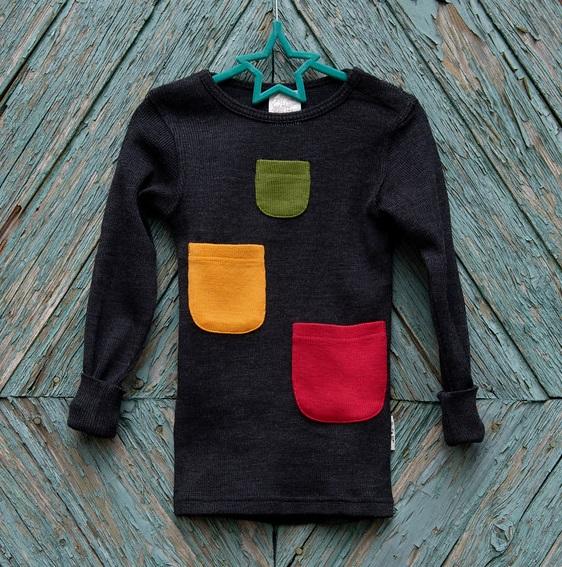 ManyMonths T-shirt lange mouwen met zakjes - Kleuren 2020