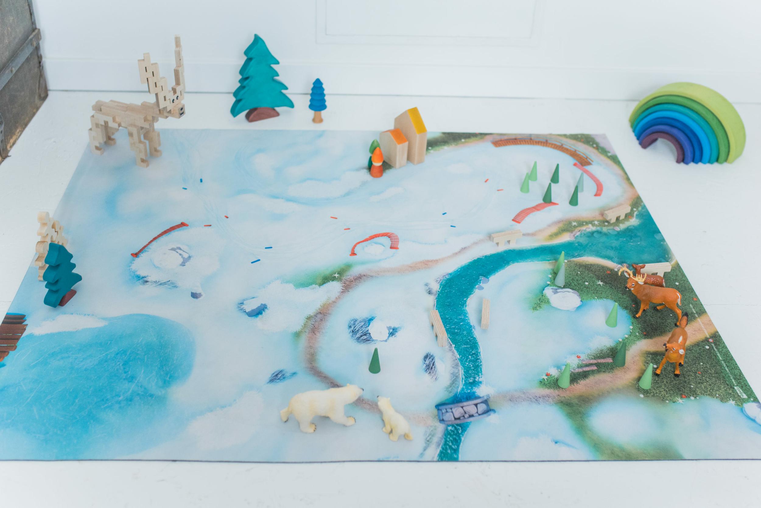 Klein Speelkleed Carpeto - Sneeuw Ster 90 x 60cm