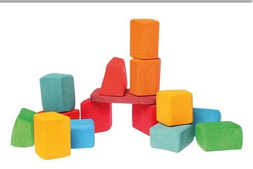 15 Waldorf gekleurde bouwblokken GRIMM\'s