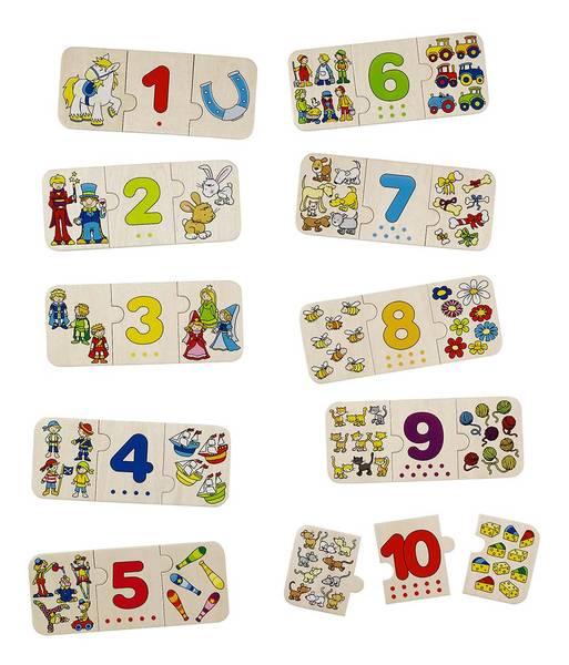 Puzzel Cijfers en Plaatjes GOKI
